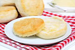 Fresh biscuit with melted butter Royalty Free Stock Image