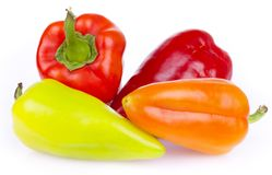 Fresh bitter and sweet pepper Royalty Free Stock Photo