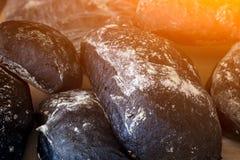 Fresh black bread royalty free stock photos