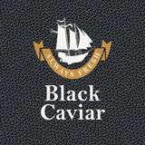 Always fresh black caviar Stock Photos