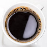 Fresh black coffee close up Royalty Free Stock Photos