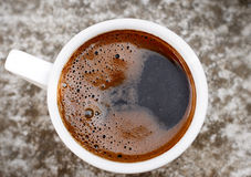 Fresh black coffee Royalty Free Stock Photography