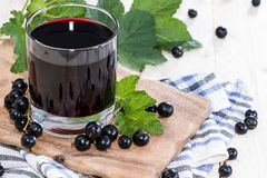 Fresh Black Currant juice Royalty Free Stock Photos