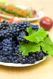 Fresh black grape Stock Photography