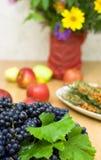 Fresh black grape Stock Image