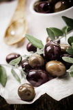 Fresh black olives Stock Image
