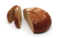 Fresh black round bread Royalty Free Stock Images
