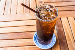 Fresh black soda with ice Royalty Free Stock Photo