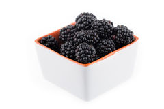 Fresh blackberries in bowl Royalty Free Stock Images