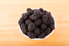 Fresh Blackberries in Bowl Stock Photography