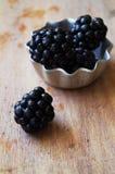 Fresh blackberries stock photo