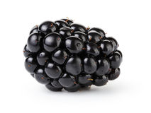 Fresh blackberry berry isolated on white Royalty Free Stock Photos