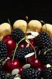 Fresh blackberry and cherry cake Stock Image