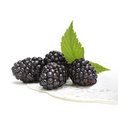 Fresh blackberry with leaf Stock Images