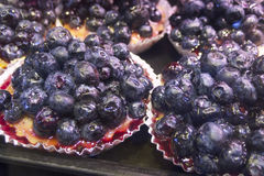 Fresh Blackberry Pies in Vancouvers Grandville Island Market Stock Photo