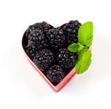Fresh blackberry Valentine Royalty Free Stock Photo