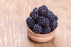 Fresh blackberrys in a bowl Royalty Free Stock Photos