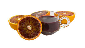 Fresh Blood Orange Juice Royalty Free Stock Images