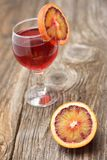 Fresh blood orange juice in a glass Stock Photo