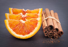 Blood oranges and cinnamon Stock Photo