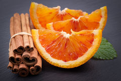 Blood oranges and cinnamon Royalty Free Stock Image