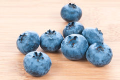 Fresh blue berries group on wooden back Royalty Free Stock Photo