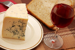 Fresh blue cheese on the table Stock Image