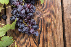Fresh Blue Grapes Stock Photography