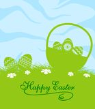 Fresh blue and green Easter background Stock Image