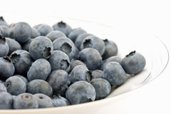 Fresh blueberries. Isolated on plate Royalty Free Stock Photo