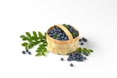 Fresh blueberries in basket Royalty Free Stock Photography