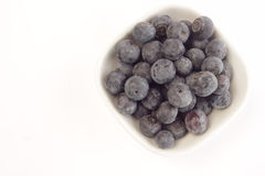 Fresh blueberries in a bowl Stock Photography