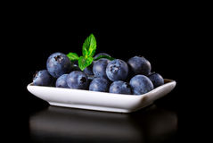 Fresh blueberries in a bowl Stock Photo