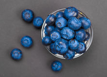Fresh blueberries in bowl Stock Image