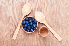 Fresh blueberries in a bowl Stock Images