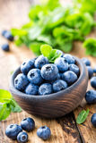 Fresh blueberries in bowl Royalty Free Stock Image
