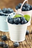 Fresh Blueberries in bucket Royalty Free Stock Photo