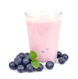 Fresh blueberries fruits and smoothies Stock Photography