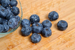 Bowl Blueberries Royalty Free Stock Images