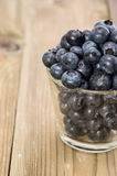 Fresh Blueberries in a glass Royalty Free Stock Image
