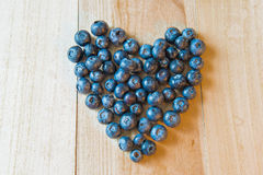 Fresh Blueberries Heart shape Royalty Free Stock Image