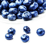 Fresh Blueberries  isolated on white background macro. Blueberry Royalty Free Stock Image