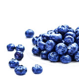 Fresh Blueberries  isolated on white background macro. Blueberry Royalty Free Stock Images
