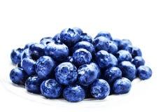 Fresh Blueberries  isolated on white background Stock Images