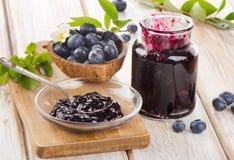 Fresh blueberries jam Royalty Free Stock Image