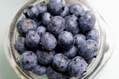 Fresh Blueberries in a Jar Stock Photo