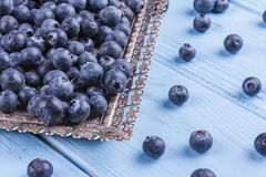 Fresh  blueberries Stock Photos
