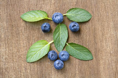 Fresh blueberries with mint leaves. Stock Image