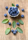 Fresh blueberries with mint leaves. Stock Photography