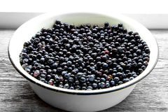 Fresh blueberries on plate Royalty Free Stock Photo